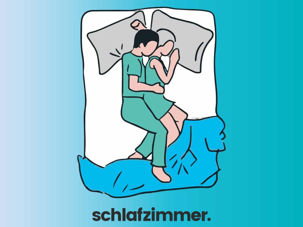 Bedeutung schlafpositionen paar Schlafpositionen und