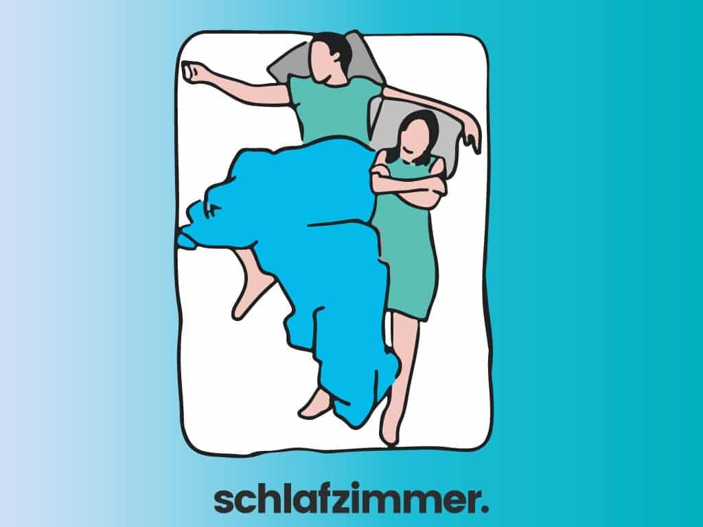 Bedeutung schlafpositionen paar Schlafposition Paare